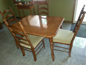 Solid Maple dining room table set
