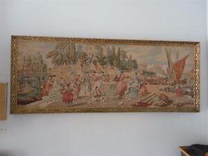 Vintage handmade large framed tapestry wall hanging decor London Ontario image 4