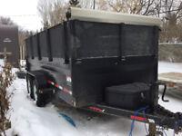 Dump Trailer and Truck