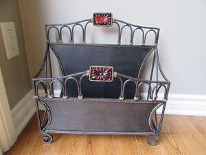 Magazine holder; metal London Ontario image 1