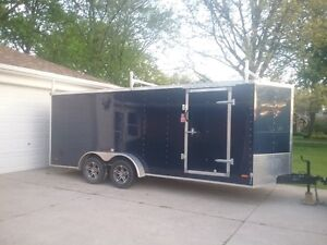 18ft Utility trailer-roof rack-chrome-int/ext lights-240hydro