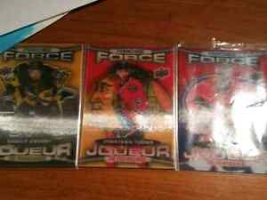3 franchise force hockey cards