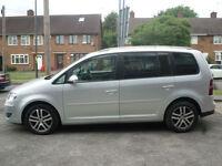 2008 Volkswagen Touran 2.0TDI ( 140PS ) ( 7st ) DSG SE 5DR 58REG Diesel Silver