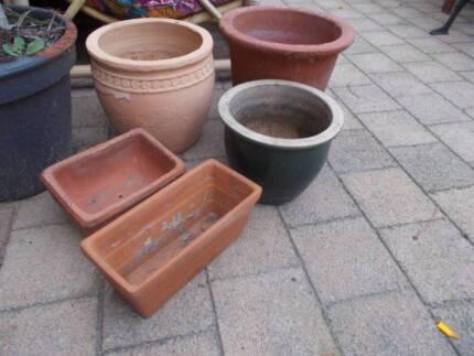 5 Assorted Terracotta Plant Pots Beckenham Gosnells Area Preview