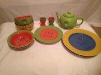 Fun dishes and tea pot