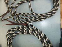 Quality horsehair mecates and rawhide romal reins