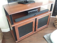 TV Stand with shelving and cupboard