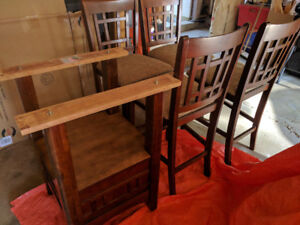 5 piece Oak Counter  height  dining set - Dalton