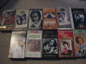 11 old movies on VHS + 1 dvd -$5 lot-Chisum,Casablanca,more...