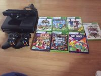 Xbox 360, Kinect & 7 games for sale