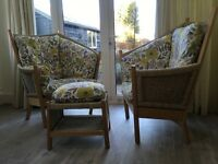 Attractive conservatory chairs and table/ footstool