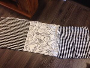 3 pillow covers black and white from Ikea 50x50