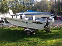 Legend aluminum fishing boat