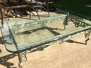 1 Glass Coffee Table and Matching Glass Side Table Kitchener / Waterloo Kitchener Area image 2