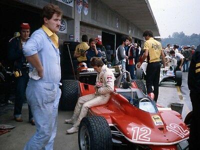 1979 F1 Formula 1 Gilles Villeneuve Ferrari Italian Monza Grad Prix 8 X 10 Photo