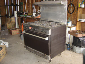 Commercial Stove, Server Station, Pool Table, Table Bottoms