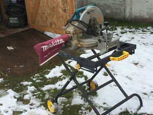 """Makita 10"""" compound mitre saw with stand"""