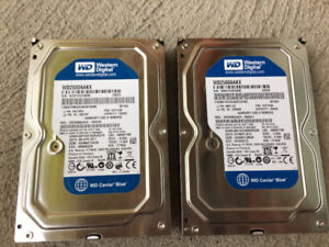 Lot de 2 disques durs SATA desktop WD