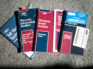 F150, F250, F350 OWNER'S MANUALS 1994 and 1996 Cambridge Kitchener Area image 5