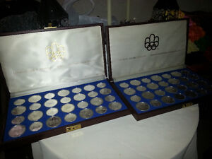 Olympics 1976 silver coin set -28 pieces per set / 2 sets avail.
