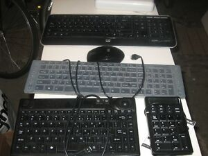 3 quality usb computer keyboards w mouse, & calculator / pad