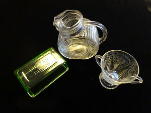 Depression Glass - 3 Pcs
