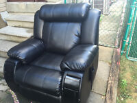 Reclining leather Chair with Massage