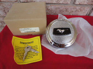 1965-1973 FORD MUSTANG Locking Gas Cap & Keys Kit - NEW REPRO