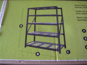 Heavy Duty Metal Shelves ( New in the box)