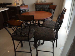 Wood and Wrought iron Kitchen furniture set