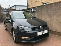 14 64 VOLKSWAGEN POLO BLUEMOTION TECH S 3 DR GREY £20 TAX TOUCHSCREEN MEDIA A/C