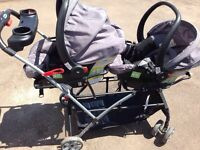 Perfect for twins! Stroller and carseats