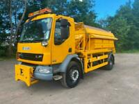 DAF TRUCKS LF GRITTERS,6.3m cube .WET SYSTEMS FITTED AND PLOUGHS 11-21,000 miles