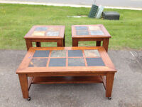 Beautiful Coffee Table/End Table Set (3 pcs)