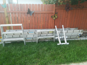 Aluminum ladders and scaffolding