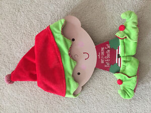 ~Baby's first Christmas hat & bootie set~