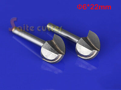 2pc Wood Making Router End Mill Cnc Engraving Ballnose Round Bottom Bit 6mmx22