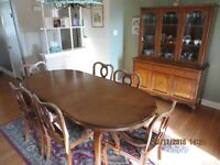 9pce Solid Cherry Dining Set