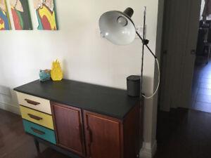 Floor Lamp - Retro - Luxo Style - Brown and Chrome