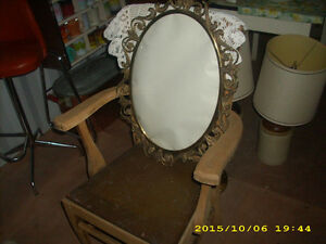 antique early 1900s brass oval glass oval picture frame