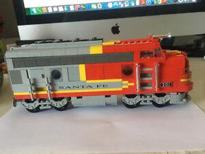 Lego Santa Fe Train engine