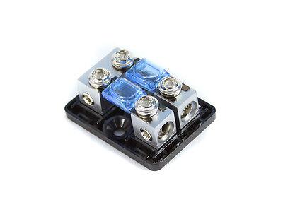KnuKonceptz Bassik 2 Way 4 Gauge to 4 / 8 Gauge Mini ANL Fuse Block w Fuses