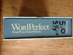 WordPerfect 5.0 for DOS, Good Vintage Collectible Rare OS 5 1/4