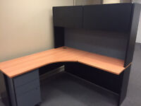 8 office cubicle desks and an executive desk for sale