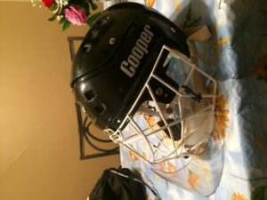 Vintage cooper and ccm hockey  goalie helmet