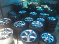 Alloy wheels Audi A4 A6 A3 BMW 1-Series 3 series Mercedes c class e class ect