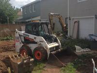 post holes, tree stumps , French drains , bobcat, excavator