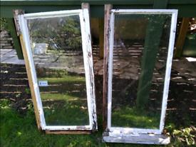 Metal framed windows x2