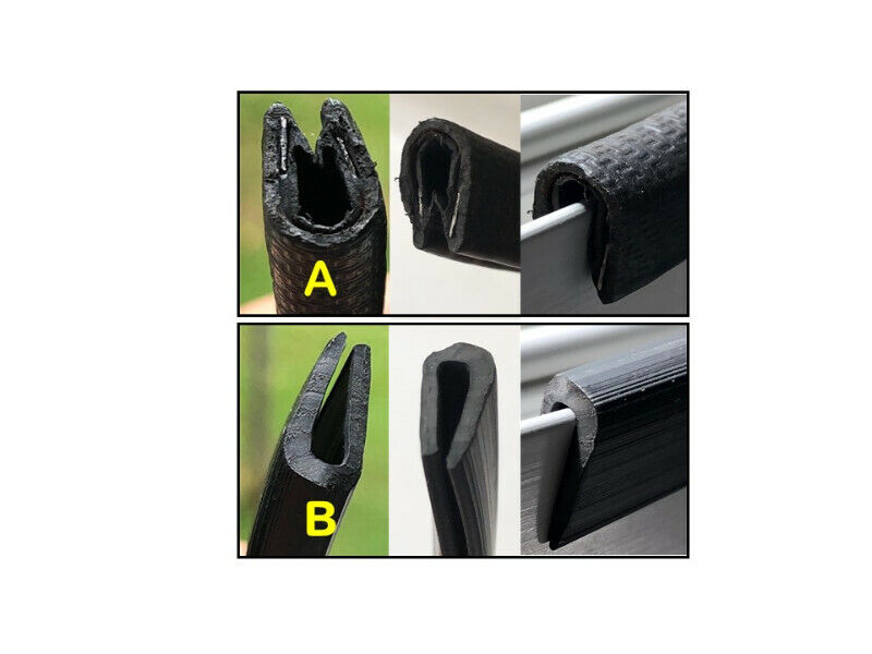U Shape Edge Rubber Strip / Rubber Seal Protector- With/Without Metal Edge