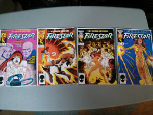Marvel comic lot of 4 Firestar compete 4 issue limited series